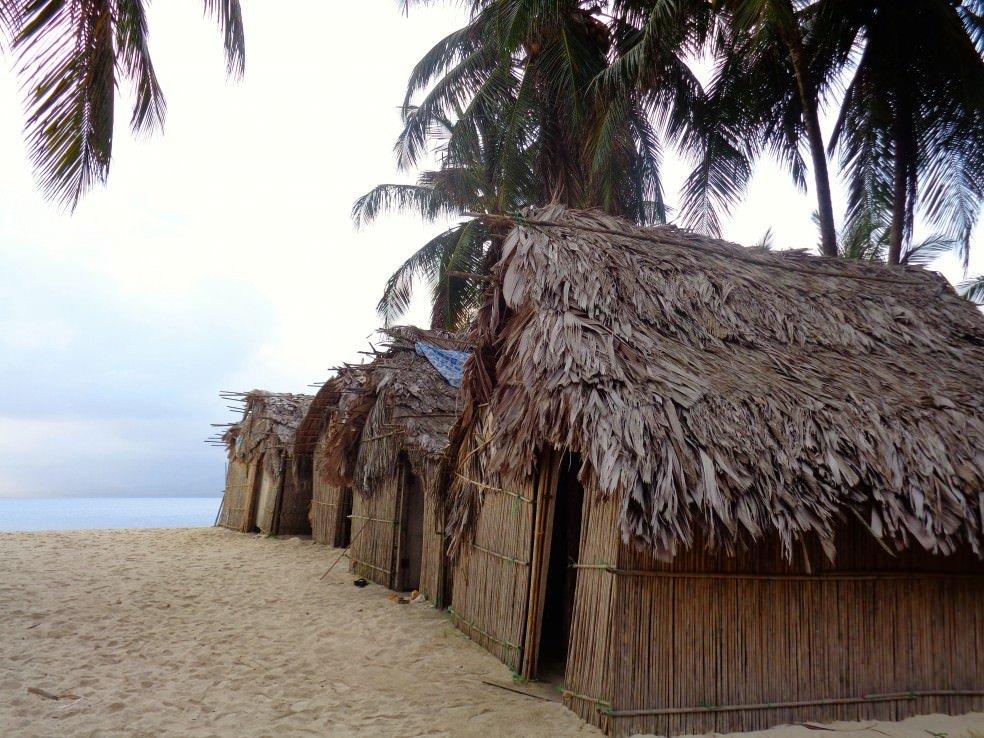 San Blas islands. A beach cabana.