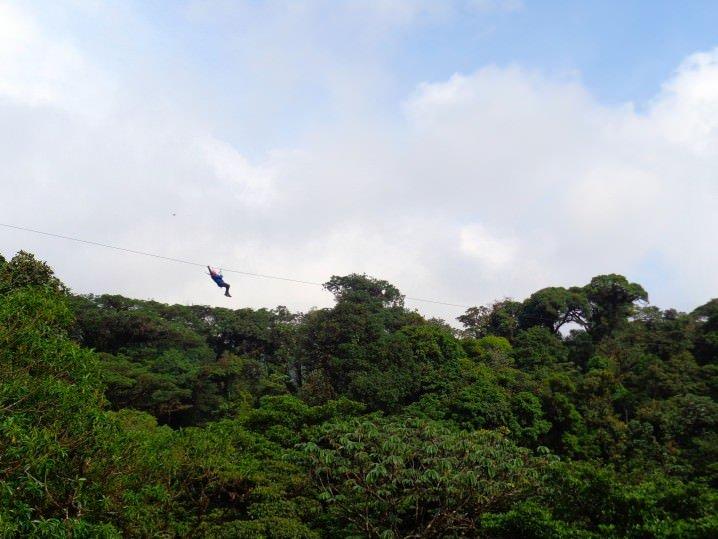 Zip-lining, Monteverde, Costa Rica