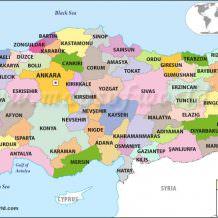 Turkey map - Turkey with Katrinka