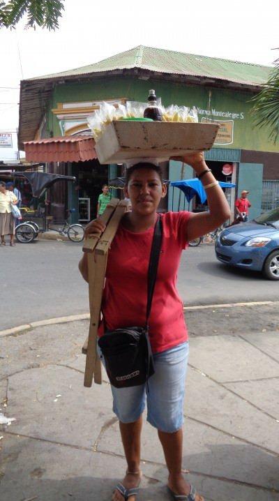 Melon seller in Nicaragua