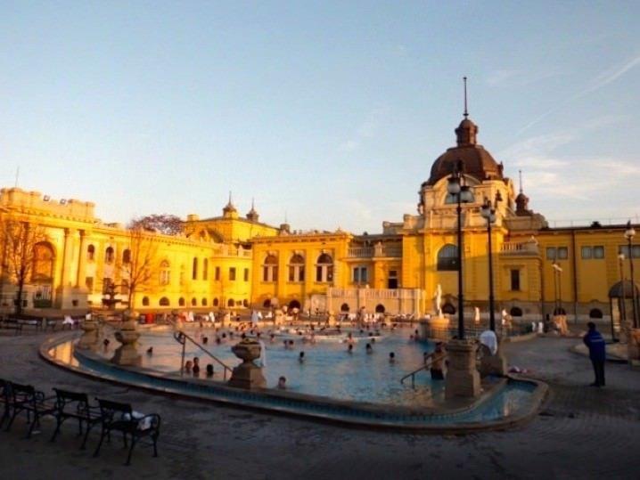 Best Places for Spas. Szechenyi Baths, Budapest