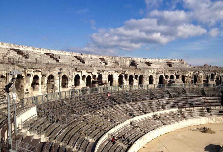 Nîmes ampitheatre - Solo travel to Uzes, France