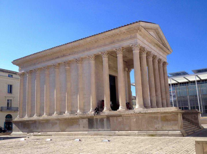 Nimes Roman Temple - Solo to Uzès, France