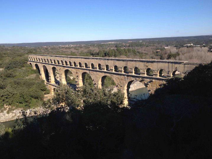Pont du Gard aqueduct - Solo to Uzès, France
