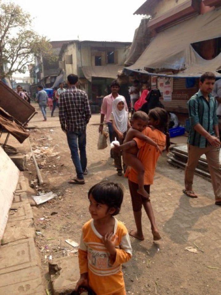 Taken outside the slum school on my lunch break