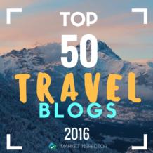 Top 50 Travel Blogs award